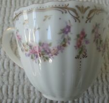 NIKKO Fine  Bone Chine Tea Cup EMPRESS Gold Band Swags Of Flowers