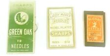 Lady Mary Needles, Bloods, Green Oak Sharps Needle Cases 3 Lot Made in England