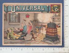 9342 Cribben, Sexton wood stove comic advertising trade card Chicago, IL