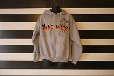 Hanes Disneyland Resort Gray Cotton Blend Mickey Print Hooded Jacket Size XL