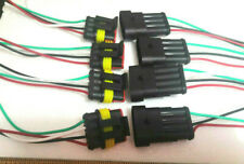4 Sets 4 Pin Waterproof Electrical Wire Connector Plug Auto Connectors
