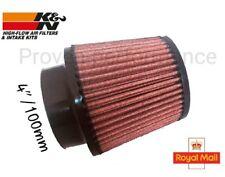 "100mm 4"" K&N air filter universal performance"