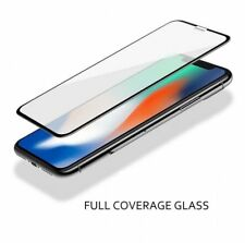 For iPhone X 10 Full Coverage 3D Premium Tempered Glass Screen Protector Black