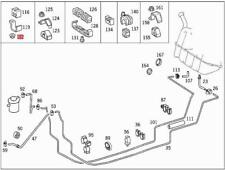 Genuine Mercedes Screwed Insert 10pcs SMART (BBDC) 0039900251
