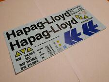 """Decalbogen """"Hapag-Lloyd"""" 1:24 für 20-Fuss Standart-Container"""