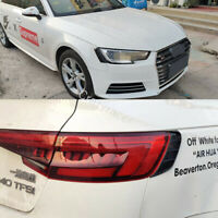 A4 B9 Carbon Look Headlight Cover Tail Light Trim for Audi A4 & S4 Saloon 2017+