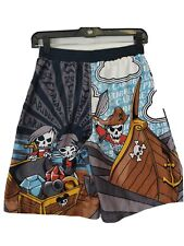 Boys Kids Children's Disney Pirate Large Swim Trunks