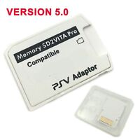 OEt V5.0 SD2VITA PSVSD Pro Adapter For PS Vita Henkaku 3.60 Micro SD Memory Card