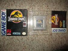 Jurassic Park  (Nintendo Game Boy, 1993) GB Complete in Box