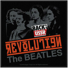THE BEATLES - REVOLUTION BACK IN THE USSR ( BRAND NEW 10cm SEW-ON PATCH )