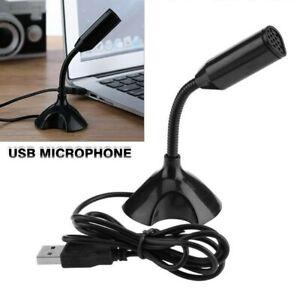 1*Black USB Mini Desktop Speech Microphone Stand For PC Laptop Computer Notebook