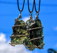 MOLDAVITE NECKLACE In GOLD! 12 Kt Genuine Tektite Meteorite Pendant. Synergy 12
