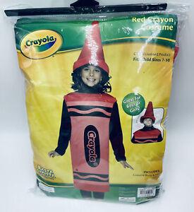 Red Crayola Child's Halloween Costume Sizes 7-10 Dress Up New
