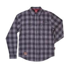 Indian Motorcycle Men's Gray Black Plaid Shirt - Medium - P/N: 286893203