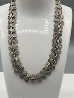Heavy Vintage Solid Sterling Silver Fancy Link Design Choker/necklace 53.5g