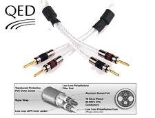 QED Genesis Silver Spiral Câble Pull liens 4 x 20 cm AIRLOC pique/Banana Plugs