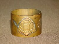 VINTAGE WWI TRENCH ART BATTLE OF 1ST AEF  CHATEAU THIERRY BRASS NAPKIN RING