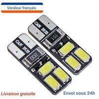 2 VEILLEUSE LED ampoule led  W5W T10 anti erreur  BLANC XENON 6000K 2W auto/moto