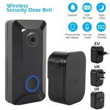 Wireless Smart Door Bell IR Security Camera Video Wifi Doorbell Remote Intercom