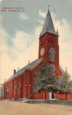 Ohio postcard New Lexington, Catholic Church