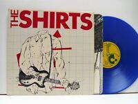 THE SHIRTS self titled (blue vinyl) LP EX/EX, SHSP 4089, vinyl album, with inner