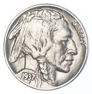 FULL HORN - High Grade - TOUGH - 1937 Buffalo Nickel - Sharp Coin! *321