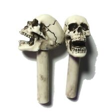 Made in USA Hot Rat Skull Door Lock Knobs shift Pins Skeleton Rod Punk Goth 34A