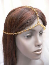 NEW WOMEN GOLD HEAD METAL CHAIN SEXY FASHION JEWELRY GRECIAN GOLD ORANGE BEADS