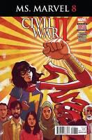 Ms Marvel #8 MARVEL COMICS  Cover A 1ST PRINT  CIVIL WAR