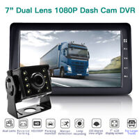 Top IPS 150° Wide Angle Dual Lens 1080P Truck Car Dash Cam Recorder Night Vision