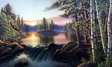 """James Meger """"Boundry Waters"""" Eagle Lake Print Signed and Numbered  30"""" x 19.75"""""""