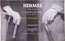 PUBLICITE HERMES SELLIER PARAPLUIE GANT DE VILLE ET DE SPORT DE 1935 FRENCH AD