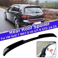 Rear Roof Spoiler Splitter Black ABS For VW Golf 7 MK7.5 VII GTI R GTD 2014-2019