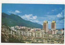 El Centro Bolivar y El Avila Caracas Venezuela Old Postcard 453a