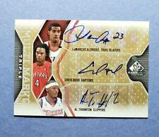 2009-10 SP, Chris Bosh, Al Thornton, LaMarcus Aldridge, Auto Autograph, #d 30/60