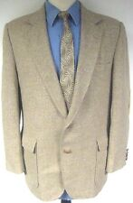 Imperial by Haggar Sport Coat Beige Two Button Suede Elbow Patches Size 44R