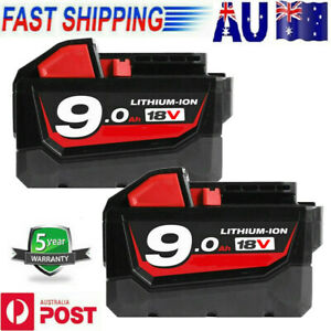 2X For Milwaukee M18 XC 6.0AH LITHIUM ION 18V battery M18B 48-11-1852 48-11-1828