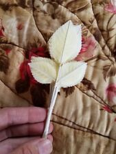 Vintage Light Yellow Ivory Leaves Spray pack of 11 Millinery Hat craft NOS Japan