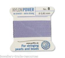 Puissance de nylon violet lilas fil soyeux 0,80 mm stringing perles & perles Griffin 8