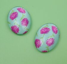 4pcs 25x18mm Domed Oval Cabochons