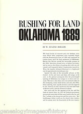 Guthrie, Oklahoma Land Rush 1889 + Genealogy