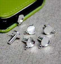 Silver tone dustproof plug – 10 pcs