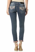 MISS ME SIZE 28 PARTY TREASURE CUFFED SKINNY JEANS JP8540CK
