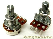 250k Ohm volume+tone pots potentiometers long reach for fitting through wood