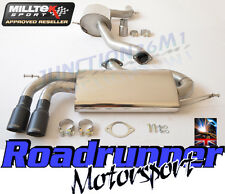 "Milltek Exhaust Golf GTi MK5 & ED30 3"" Cat Back Race System Stainless Res Black"