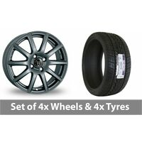 "4 x 15"" Wolfrace Milano Titanium Alloy Wheel Rims and Tyres -  235/75/15"
