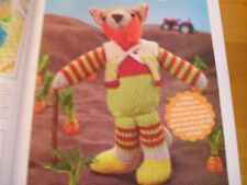 KNITTING PATTERN FOR FELIX THE FOX. TOY.
