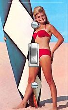 Surfer Girl Vintage Poster Single Switch Plate * Free Shipping *