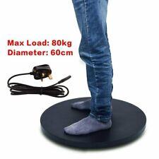"UK 60cm 24"" Dia 80kg Loading Heavy Duty Black Rotating Display Stand Turntable"