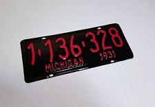 Michigan License Plate RESTORATION SERVICE 1915 1928 1931 1938 1956 1960 1971